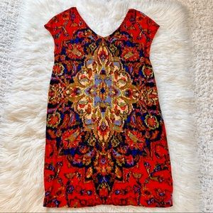 Anthropologie Maeve All Over Patterned Dress Small